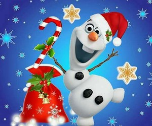 christmas, olaf, and frozen image