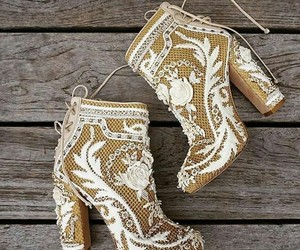 embroidery, Nude, and nude boots image