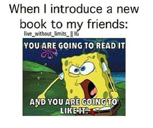 book, funny, and spongebob image