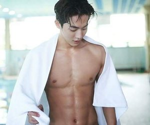 abs, model, and korean image