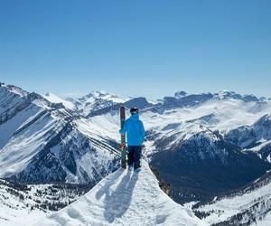 mountain, ski, and snow image