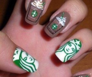nails, starbucks, and coffee image
