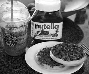 coffee, cookie, and nutella image