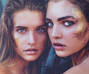 girl, glitter, and glow image