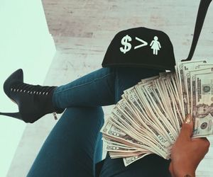 girl, money, and shoes image