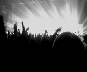 atmosphere, black&white, and concert image