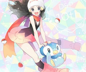 pokemon, dawn, and piplup image