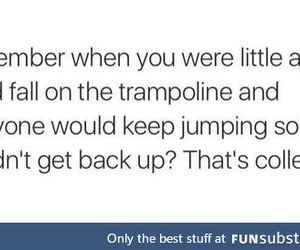 college, get up, and trampoline image