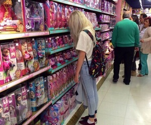 girl, barbie, and grunge image