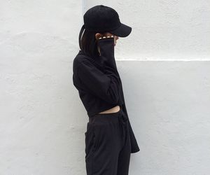 aesthetic, black, and style image