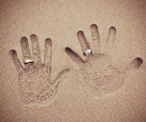 love, beach, and wedding image