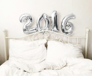 2016, bed, and balloons image