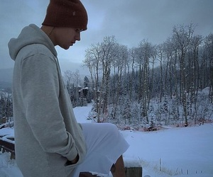 justin bieber, bieber, and snow image