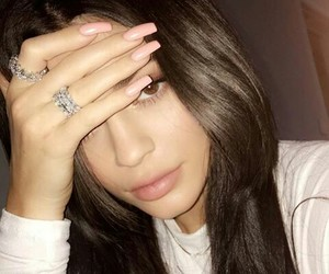 kylie jenner, nails, and makeup image