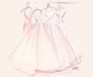 dress, art, and pink image
