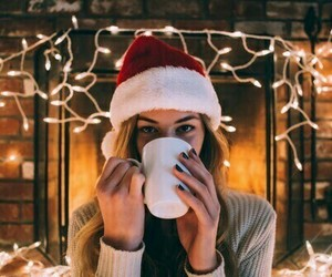 christmas, girl, and light image