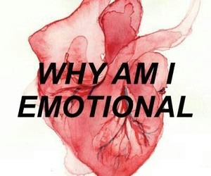 heart, dark, and emotional image