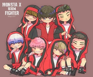 fanart, kpop, and monsta x image