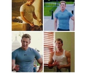 captain america, chris evans, and Hot image