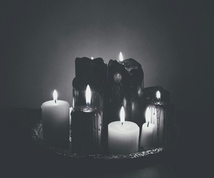 candles, dark, and gothic image