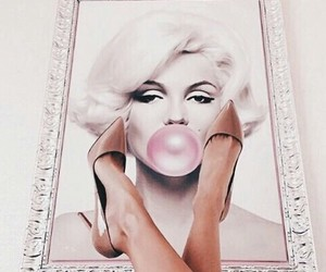 art, marylin monroe, and white image