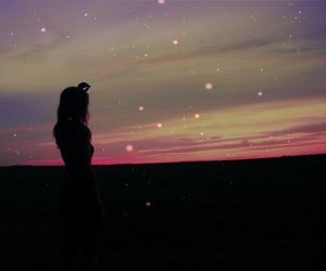 girl, sky, and model image