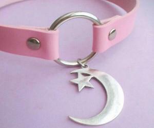 pink, kawaii, and moon image