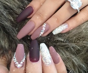 beauty, matte, and nails image