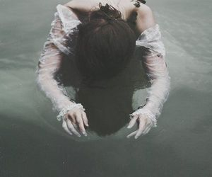 photography, dark, and water image