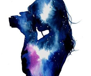galaxy, art, and watercolor image
