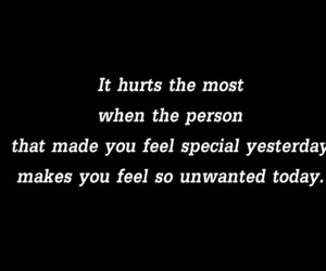 hurt, quote, and unwanted image