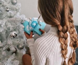 beauty, christmas, and hair image