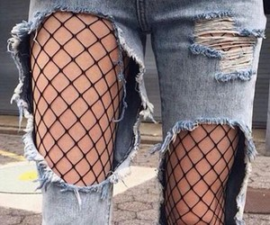 denim, fashion, and ripped jeans image