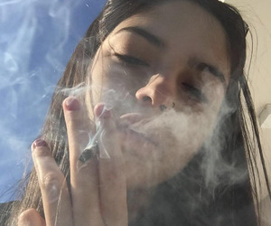 girl, smoke, and aesthetic image