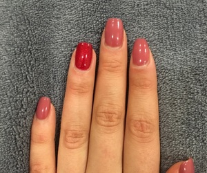 nails, Nude, and nude nails image