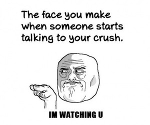 crush, funny, and face image