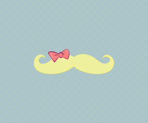 bow and mustache image