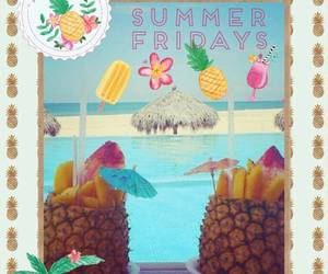 beach, summer, and pinneapples image