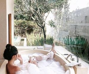 girl, bath, and tumblr image