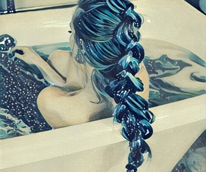 art, hairstyle, and relax image