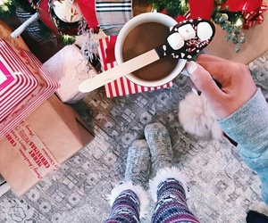christmas, coffee, and cozy image