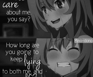 toradora, anime, and quote image