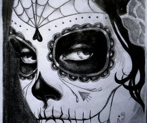 mexican skull, day of the dead, and skull image