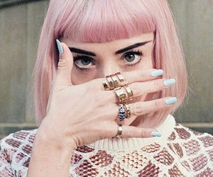 pink, hair, and nails image