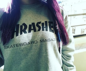 girls, thrasher, and hair image
