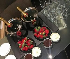 luxury, chocolate, and strawberry image