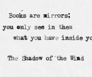 book, quote, and mirrors image