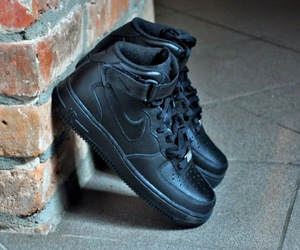 air force, black shoes, and fashion image