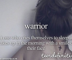 warrior, smile, and quote image