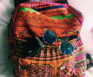 bag, hippie, and sunglasses image